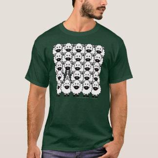 Border collie en las ovejas camiseta