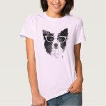 Border Collie Hipster Camiseta
