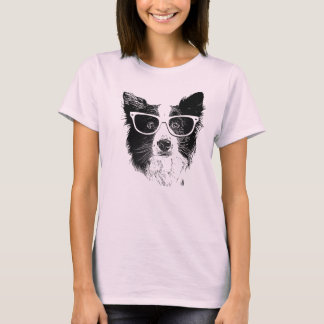Border Collie Hipster Camiseta