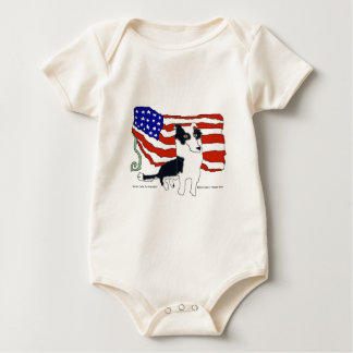 Border collie para el presidente trajes de bebé