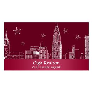 Bordo del agente inmobiliario tarjetas de visita