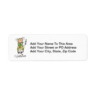 Bordo la figura del palillo etiquetas de remite