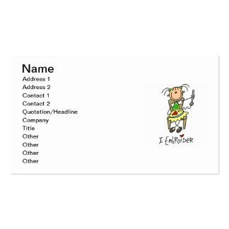 Bordo la figura del palillo plantillas de tarjetas personales