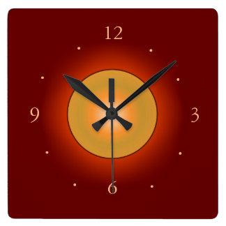 Borgoña con el reloj de Centre>Wall del tono