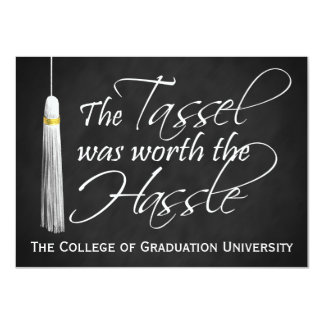 Borla digno de la graduación de la universidad del invitación