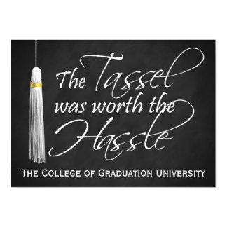Borla digno de la graduación de la universidad del invitación 11,4 x 15,8 cm
