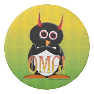 Borrador malvado del pingüino de OMG para su