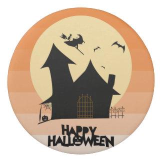 """Borrador redondo del """"feliz Halloween"""""""