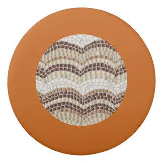 Borrador redondo del mosaico beige redondo