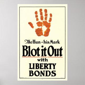 """Bórrelo hacia fuera, el hun, enlaces de la libert Poster"
