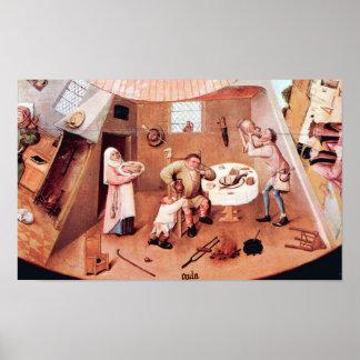 Bosch-Tabla w/scenes de los siete pecados mortales Posters