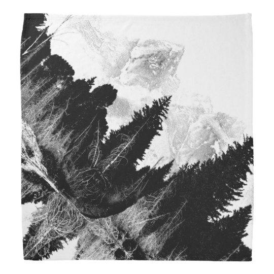 Bosque blanco y negro bandana