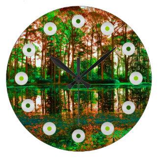 Bosque de la fantasía de Shirley Taylor Reloj Redondo Grande