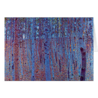 Bosque de la haya de Gustavo Klimt, arte Nouveau Tarjeta