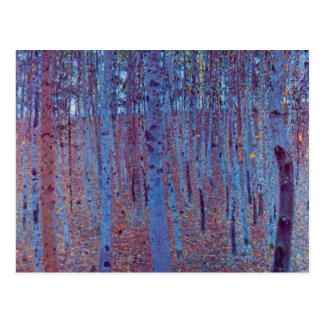 Bosque de la haya de Gustavo Klimt, arte Nouveau Postales