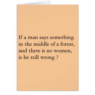 Bosque de los hombres tarjeton