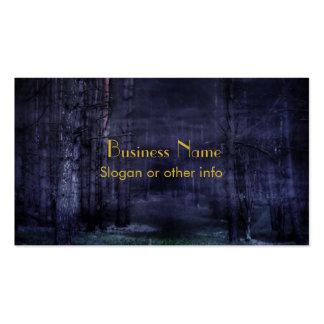 Bosque espeluznante tarjeta de visita