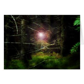 Bosque místico tarjeta de felicitación