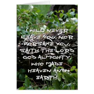 Bosque promesa de la tarjeta de dios