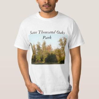 Bosque y hábitat de la reserva del parque de camiseta