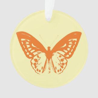 Bosquejo, amarillo y naranja de la mariposa