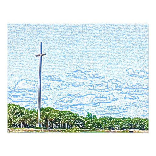 bosquejo cruzado St Augustine la Florida del Tarjetones