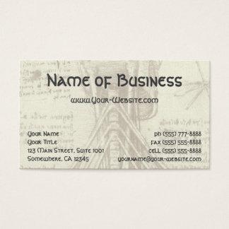 Bosquejo de la anatomía de la columna espinal tarjeta de negocios