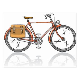 Bosquejo de la bicicleta de la escuela vieja postal