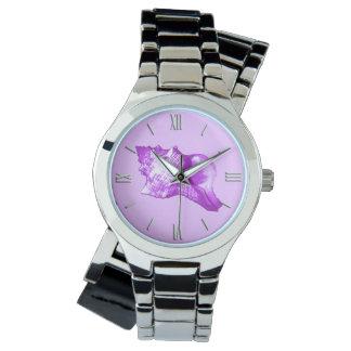 Bosquejo de la cáscara de la concha - violeta, reloj
