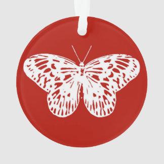 Bosquejo de la mariposa, de color rojo oscuro y