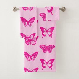 Bosquejo de la mariposa, rosa claro y fucsia