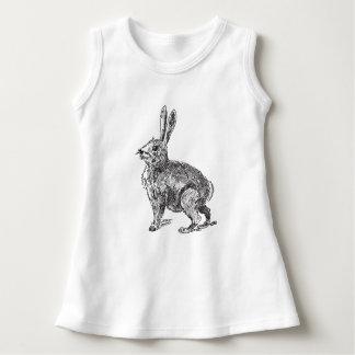 Bosquejo de las liebres del conejo vestido