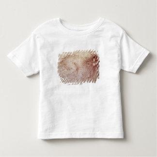 Bosquejo de un león del rugido camisetas