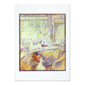 Bosquejo del arte del circo por las pinturas del invitación 12,7 x 17,8 cm
