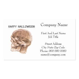 Bosquejo del cráneo de Halloween da Vinci Tarjetas De Visita