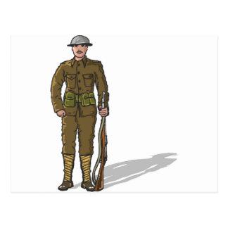 Bosquejo del infante de marina del soldado WW1 Postal