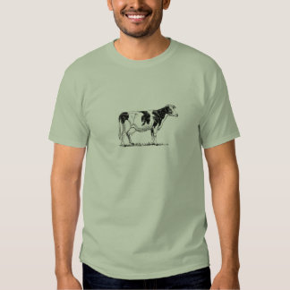 Bosquejo del lápiz del diseño de la vaca camisetas