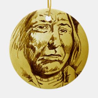 Bosquejo del lápiz del jefe indio ornamentos para reyes magos
