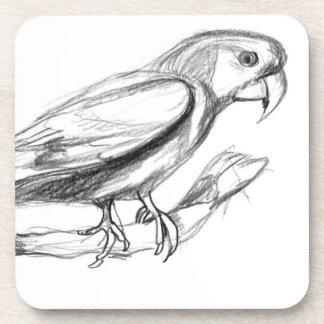 Bosquejo del lápiz del Parakeet de Carolina Posavasos Para Bebidas