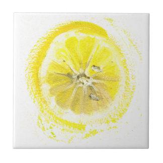 Bosquejo del limón azulejo cuadrado pequeño