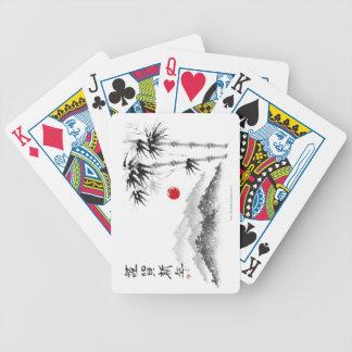 Bosquejo del paisaje baraja cartas de poker
