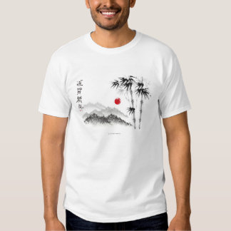 Bosquejo del paisaje camisetas