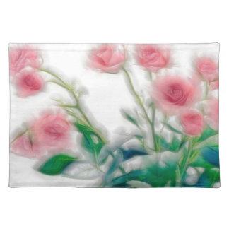Bosquejo del ramo color de rosa salvamanteles
