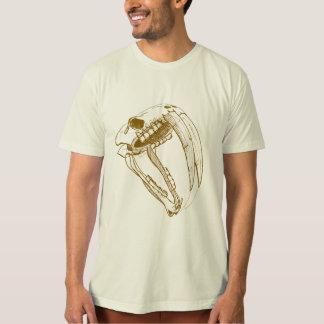 bosquejo del tigre del diente del sable camiseta
