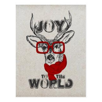 """Bosquejo divertido fresco de los ciervos """"alegría postal"""