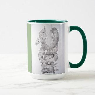 Bosquejo esmeralda de la serpiente de la boa del taza