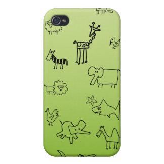 Bosquejos animales iPhone 4 protectores