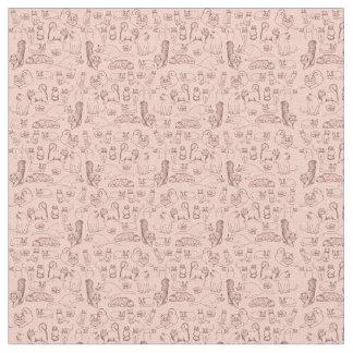 Bosquejos de la tela de algodón rosada de los