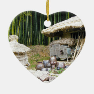 Bosques del bambú de Damyang Adorno De Cerámica En Forma De Corazón