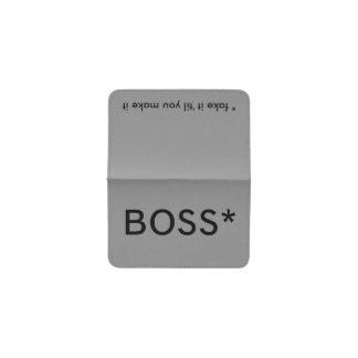 Boss * (falsificación él 'hasta que usted lo hace) tarjetero